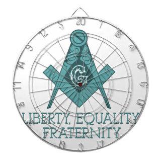 Freemason Square & Compass Liberty Equality Frater Dartboards