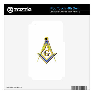 Freemason Square & Compasses Skins For iPod Touch 4G
