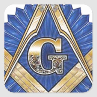 Freemason Square Sticker