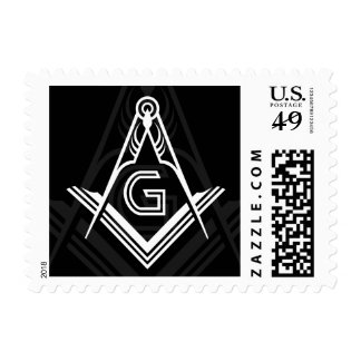 Freemason Stamps - Masonic Postage, Square Compass