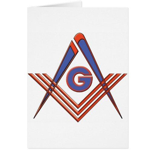 Freemason symbol greeting card