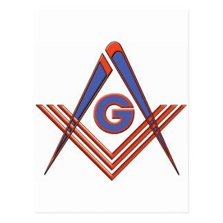 Freemason symbol postcard