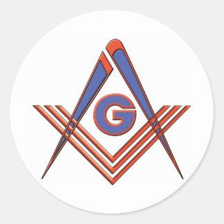 Freemason symbol sticker