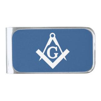 Freemason Silver Finish Money Clip