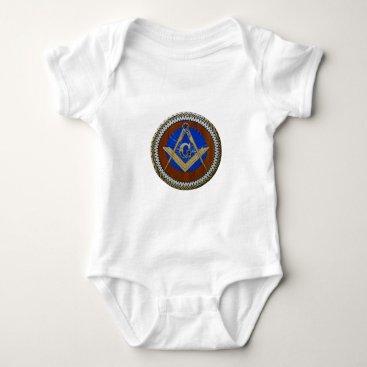 USA Themed freemasonic baby bodysuit