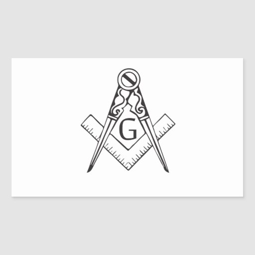 freemasonry.ai pegatina rectangular