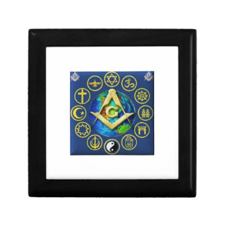 Freemasonry All Religions Jewelry Box