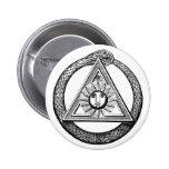 Freemasonry All Seeing Eye Masonic Symbol 2 Inch Round Button