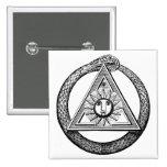Freemasonry All Seeing Eye Masonic Symbol 2 Inch Square Button