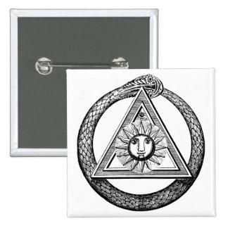 Freemasonry All Seeing Eye Masonic Symbol Button