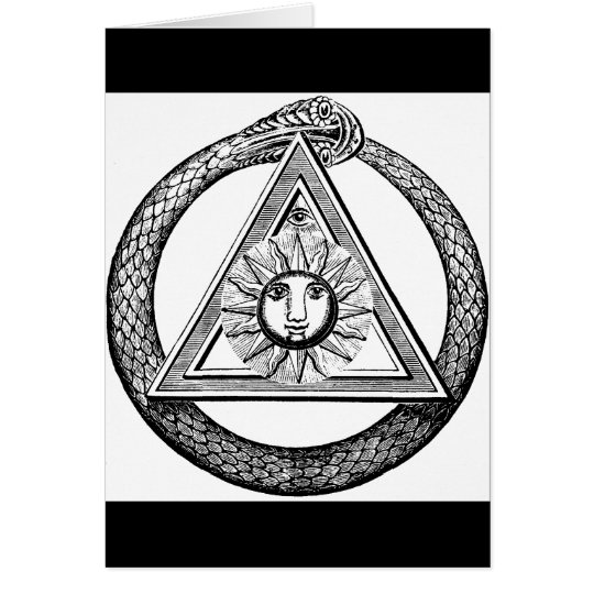 Freemasonry All Seeing Eye Masonic Symbol Card