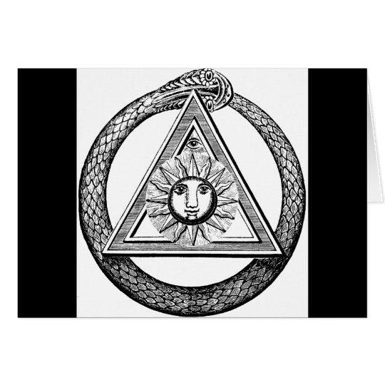 Freemasonry All Seeing Eye Masonic Symbol Card
