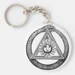 Freemasonry All Seeing Eye Masonic Symbol Keychains