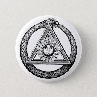 Freemasonry All Seeing Eye Masonic Symbol Pinback Button