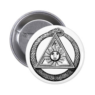 Freemasonry All Seeing Eye Masonic Symbol Pinback Button