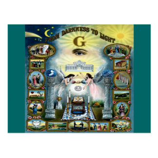 Freemasonry antiguo Hazen masónico del arte Tarjeta Postal