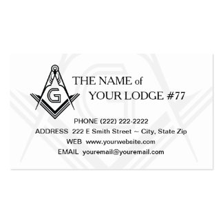 Freemasonry Business Card - Masonic Custom Card