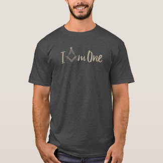 "Freemasonry ""I Am One"" Square Compass T-Shirt"