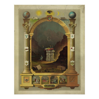 Freemasonry masónico del Freemason de la carta Poster