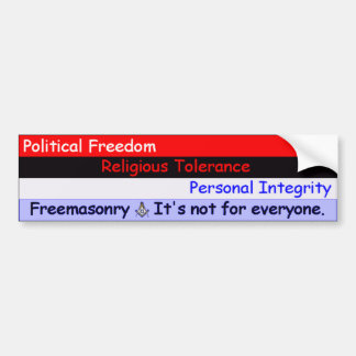 Freemasonry -- No está para cada uno Pegatina Para Auto
