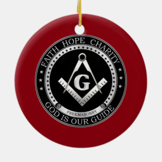 Freemasonry seal ceramic ornament
