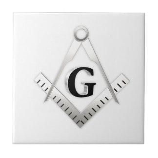 Freemasonry sign ceramic tile