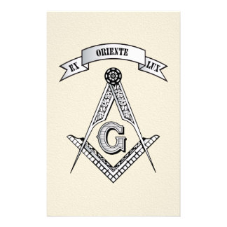 Freemasonry sign flyer