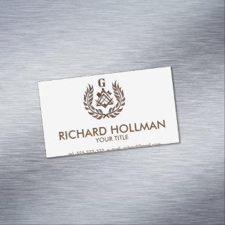 Freemasonry symbol business card magnet