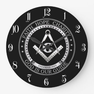 Freemasonry symbol large clock