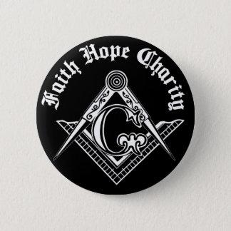 Freemasonry symbol pinback button
