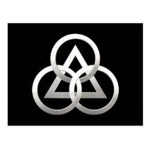 Freemasonry symbol post card