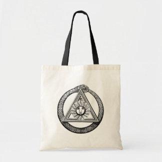 Freemasonry todo el símbolo masónico del ojo que v bolsa