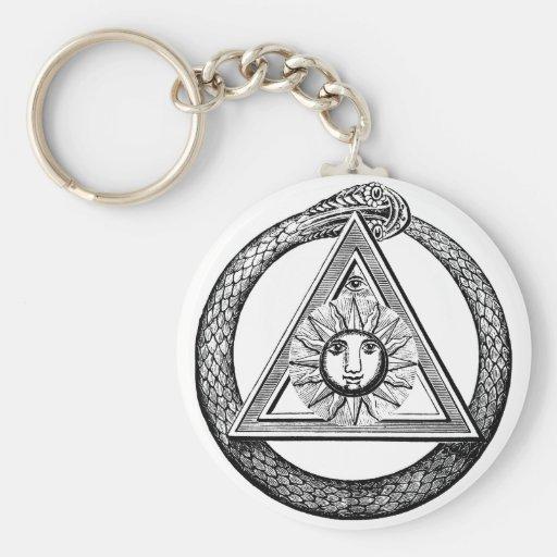 Freemasonry todo el símbolo masónico del ojo que v llaveros personalizados