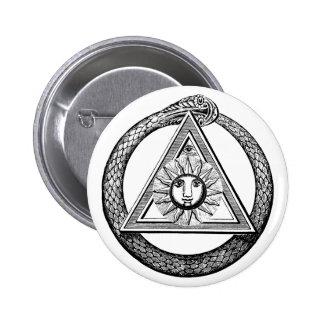 Freemasonry todo el símbolo masónico del ojo que v pin redondo de 2 pulgadas