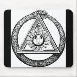 Freemasonry todo el símbolo masónico del ojo que v alfombrillas de raton