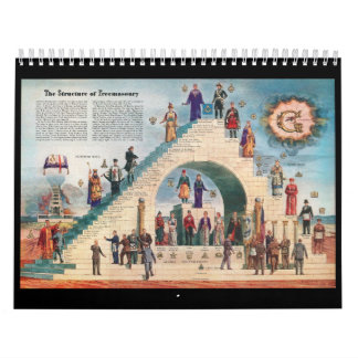 Masonic calendars zazzle freemasonry trestle board calendar pronofoot35fo Images