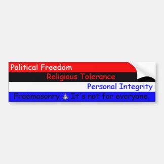 FreemasonryItsNotForEveryone Bumper Sticker
