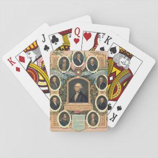 Freemasons 1876 de la revolución americana cartas de juego