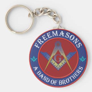 Freemasons Band Of Brothers Basic Round Button Keychain