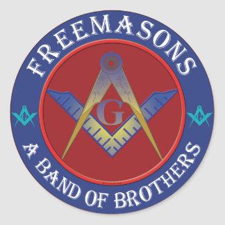 Freemasons Band Of Brothers Classic Round Sticker