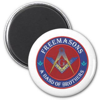 Freemasons Band Of Brothers Fridge Magnet