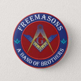 Freemasons Band Of Brothers Pinback Button