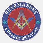 Freemasons Band Of Brothers Round Sticker