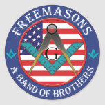 Freemasons - Band of Brothers Round Stickers