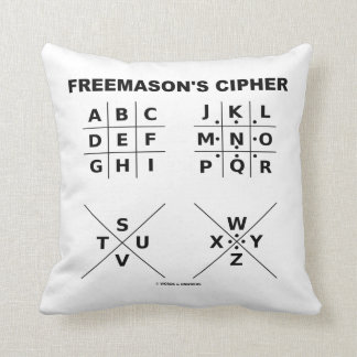 Freemason's Cipher (Cryptography) Throw Pillow