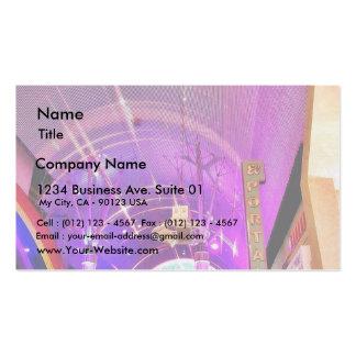 Freemont Street Lights Business Card Template