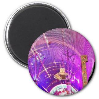 Freemont Street Lights Fridge Magnet