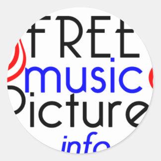 FreeMusicPictures Classic Round Sticker