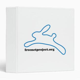 Freenet Bunny 3 Ring Binder