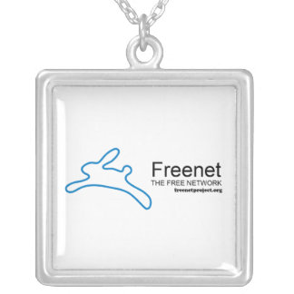 Freenet Bunny and Name Square Pendant Necklace